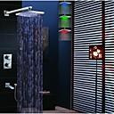 Brusehaner - Moderne - LED / Termostatisk / Regnbruser / Håndbruser inkluderet - Messing (Krom)