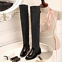 Women's Shoes Round Toe Low Heel Leather Knee High Boots More Colors available