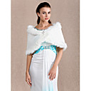 Wedding Feather/Fur Shawls Sleeveless Fur Wraps
