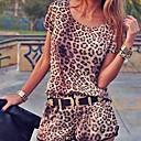 dámské leopard velký kód šaty kalhoty
