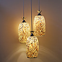 Country Style Mosaic Glass 3 Light Pendant