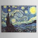 pintado a mano de la pintura al óleo de una noche estrellada de Vincent van Gogh con marco estirado
