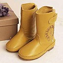 Girl's Shoes Comfort boots Flat Heel Mid-Calf Boots with Magic Tape Shoes More Colors Available
