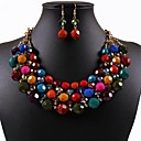 Women's Bohemia Colorful Beads Jewelry Set(Including Necklaces Earrings)