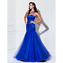TS Couture Prom / Military Ball / Formal Evening Dress - Royal Blue Plus Sizes / Petite Trumpet/Mermaid One Shoulder Floor-lengthStretch Satin /