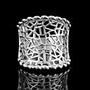 Women's Hollowed Silvering Rings 8#(1Pc)
