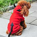 Dog Coat / Hoodie Red Winter Angel & Devil