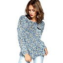 Women's Knitted Mohair Leisure Loose Knitwear Tops Pullover