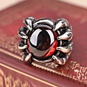 Men's Europe Ruby Devil Talons Titanium Steel Ring