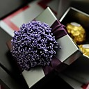 Purple Lavender With Silver Tin Wedding Box-Set Of 12