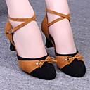 sandalias de las mujeres latinas zapatos con cordones de terciopelo de baile talón bajo (más colores)
