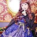 x'mas cerfs manches mi-longueur JSK robe bleue lolita douce
