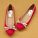 Women's Shoes Round Toe Flat Heel Suede Flats with Bowknot  Shoes More Colors available