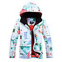 Gsou Snow Outdoor Men's White Polyester Breathable Thermal Ski Down Jacket