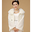 Fur Wrap Elegant  Faux Fur Long Sleeve Wedding /Special Occasion Evening Jackets/Wraps Bolero Shrug
