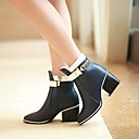 Women's Shoes Pointed Toe Chunky Heel Leather Ankle Boots More Colors available
