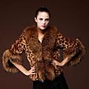 Fur Coat Half Sleeve Turndown Party/Casual Jacket