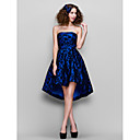 TS Couture Cocktail Party / Prom / Formal Evening Dress - Royal Blue Plus Sizes / Petite A-line Strapless Asymmetrical Lace