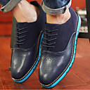 Men's Shoes Casual Leatherette Oxfords Black/Blue/Brown