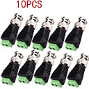 10Pcs CCTV Security Camera BNC Plug Connector Adapter