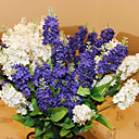 mariage décor décoration fleurs artificielles 23.6''l jacinthe 5 têtes en plastique / soie