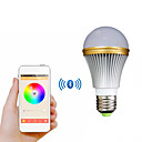 e27 5w kleurrijk licht bluetooth smart led lamp voor iOS / Android - wit + zilver (AC 85 ~ 240V)