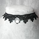 collar hecho a mano elegante cadena lolita clásico cristal negro