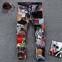 Men's Casual Colorful Cloth Splicing Jean Pants