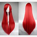 hete verkoop 40 centimeter hoge temperatuur vezel lange rechte chinees rode cosplay kostuum pruik kant bang