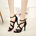 Zapatos de baile (Negro) - Danza latina/Salsa/Samba/Zapatillas de Deporte - Personalizados - Tacón de estilete