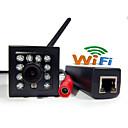 Dag Nat/Motion Detection/PoE/Dobbeltstrømspumpe/Fjernadgang/IR-klip/Wi-Fi Beskyttet Setup/Plug and play Mini - Innendørs - IP-kamera