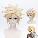 Short Blonde Cosplay Costume Dragon Ball Z Goku Japan Anime Hair Wig + Gift Cap