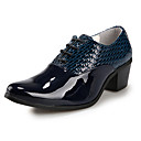 Men's Shoes Casual Leather Oxfords Black/Blue/White