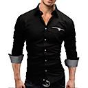 de los hombres más tamaño camisa blanca de manga larga / negro / rojo, el trabajo de mezcla de algodón casual / formal / pura