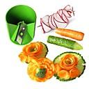 cuisine Ziqiao légumes en acier inoxydable / fruits sculpture décorative coupe / laminage