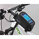 Bike Bags, New Design 5.5 Inchfor Iphone 6/ Samsung Galaxy  Bicycle Front Bag with Transparent PVC Touchable Mobile Phone Screen