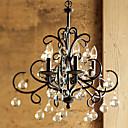 MAX:60W Tradicional/Clásico Cristal Pintura Metal Lámparas ArañaSala de estar / Dormitorio / Comedor / Habitación de estudio/Oficina /