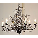 Tree Branch 6 Pendant K9 Crystal Nordic Country Style 220-240V