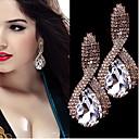 Fashion Intersect  Water-drop Shape  Diamante Rhinestone Drop Earrings