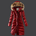 Women's Fashion Slim Thick Hooded Collar Long Down Coat
