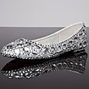 Women's Shoes Flat Heel Comfort/Round Toe/Closed Toe Flats Wedding/Dress/Casual Silver