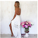 Women's Lace White Dress , Sexy Halter Sleeveless Backless