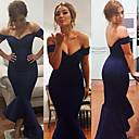 Women's Off-shoulder Mermaid Jersey Evening Maxi Sexy Dress