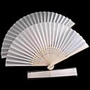 White Polyester Fiber Hand fan - Set of 4
