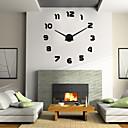 uermerstar moderne stil 3d DIY stor veggklokke diameter 39 i