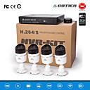 cotier® poe 4ch NVR Kits 720p ONVIF P2P-IP-Kamera N4b / kit-poe