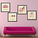 Clothes Store Cake Shop Frames Wall Art Wood Frame with Canvas with Plastic Organic Glass 4Pieces/set