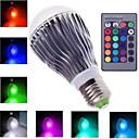 E27 3W 6W 10W RGB 16 Color Changing LED Crystal Light Bulb Lamp+IR Remote Control