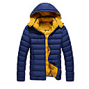 Men's Hoodie / Stand Coats & Jackets , Polyester / Viscose Long Sleeve Casual / Work Fashion Winter / Fall URUN
