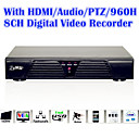 With HDMI/PTZ Control/Audio/Alarm/8Channel Video Full Function 960H Digital Video Recorder